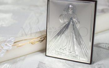 srebrny obrazek z Jezusem